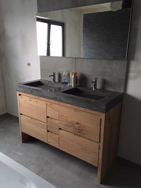 Badkamer Hout En Beton Badkamermeubel Ideeen Badkamermeubel Badkamer
