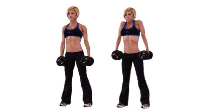Шраги с гантелями – изолированное упражнение для развития верхней части спины…