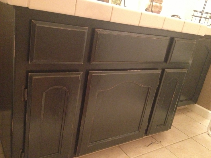 annie sloan chalk paint i painted my oak bathroom cabinets with 2