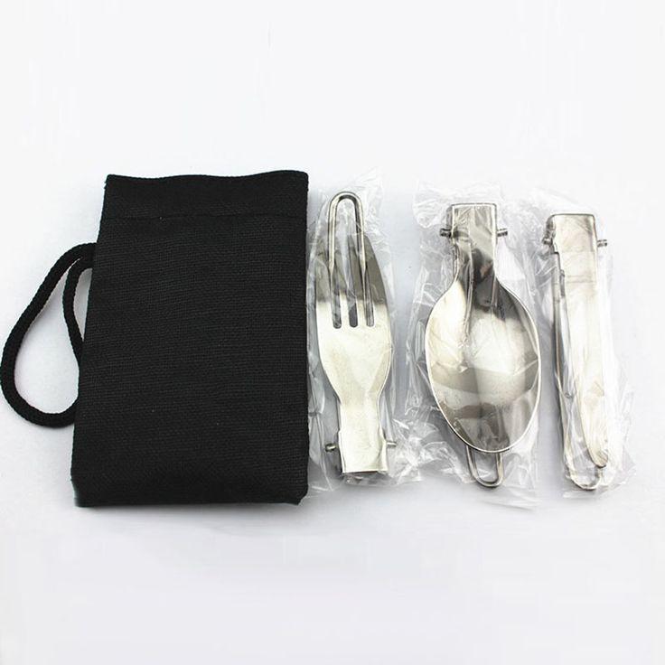 3 in 1พับกลางแจ้งตั้งแคมป์ปิกนิกบนโต๊ะอาหารที่มีคุณภาพสูงสแตนเลสพับส้อมและช้อนจัดส่งฟรีASLT ใน     บนโต๊ะอาหารวัสดุ: สแตนเลสเหล็กวัสดุถุง: ไนลอนสีบนโต๊ะอาหาร: เงินสีถุง: สีดำขนาดพับ: 1*38*88มมคลี่ขนาด:1* จาก ชุดอาหารเย็น ที่ AliExpress.com