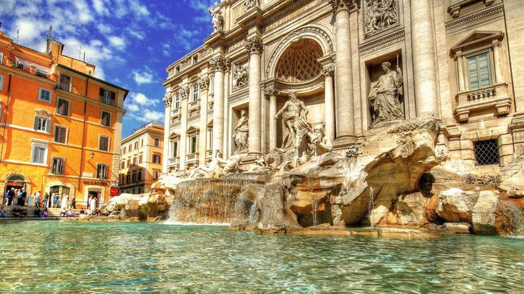 The Trevi Fountain is a fountain in the Trevi district in Rome, Italy, designed by Italian architect Nicola Salvi and completed by Pietro Bracci. Standing 26.3 metres (86 ft) high and 49.15 metres (161.3 ft) wide, it is the largest Baroque fountain in the city and one of the most famous fountains in the world. #travel #attraction #destination #rome #italy #fountain