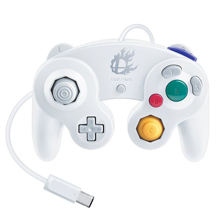 Limited edition white Gamecube controller for Smash Bros WiiU