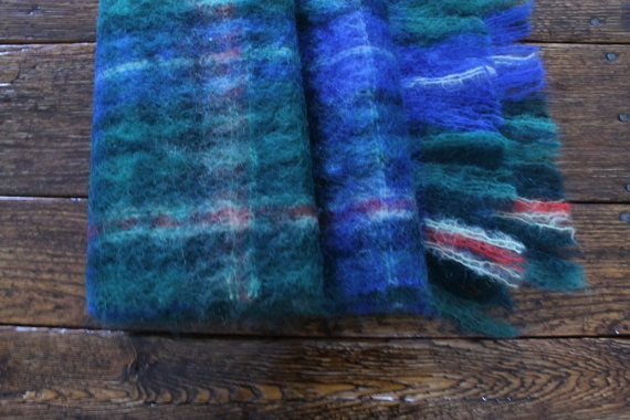 Tartan Scarf Plaid Scarf Wool Scarf Nova by ClockworkRummage, $20.00