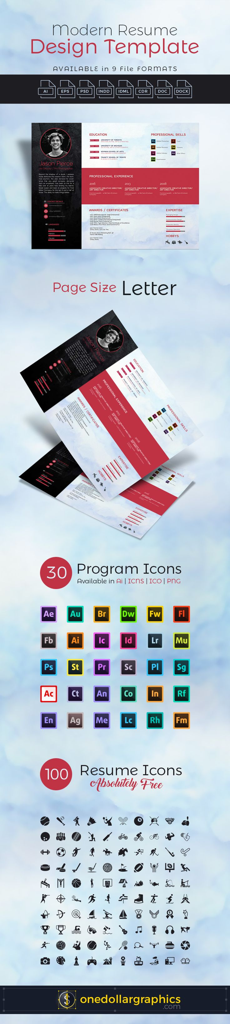 17 Best Resume Indd Images On Pinterest Resume Templates Cover