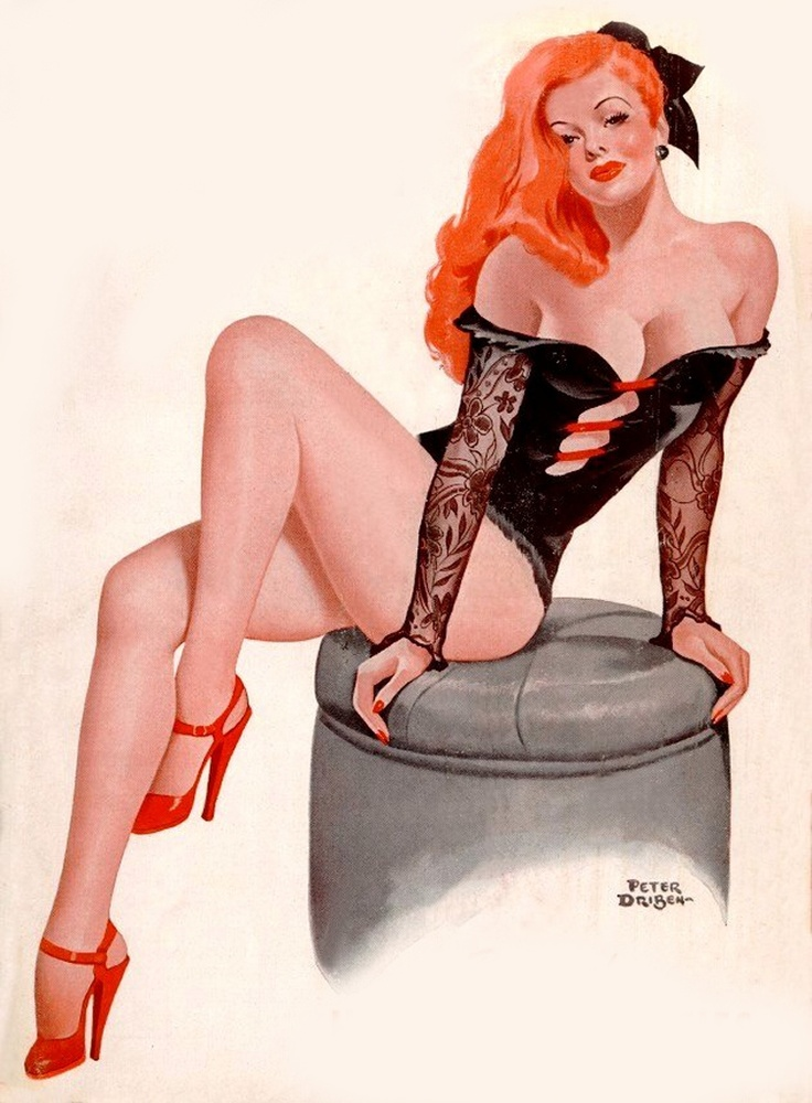 Peter Driben's Redheaded Pinup