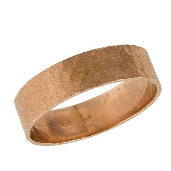 rose gold mens wedding band mens hammered wedding ring 5mm hammered mens wedding band