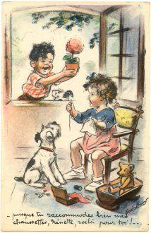 """Germaine Bouret : """"puisque tu raccomodes bien mes chaussettes, Nenette, voila pour toi !"""""""