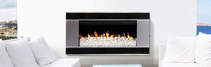 Escea EF5000 gas fireplace - The EF5000 is a great looking gas fireplace designed for quick convenient heat at the push of a button. Whether you are planning on entertaining all night or are just wishing to unwind after a day at work, the EF5000 gas fireplace is ideal. #Heating #GasHeating #Outdoor #Escea #HearthHouse