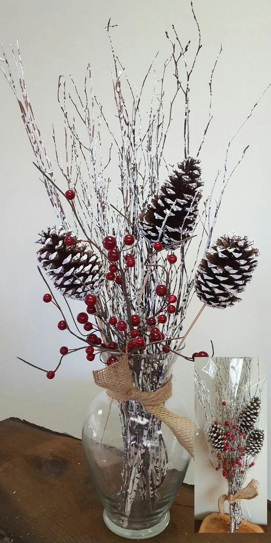 M s de 25 ideas nicas sobre centros de mesa para cena en - Centros de mesa navidenos faciles ...