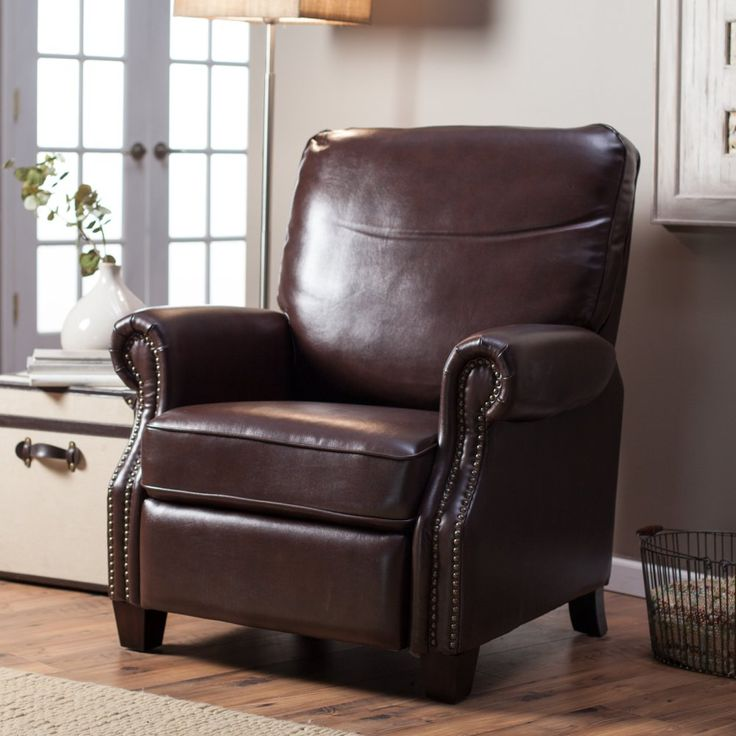 Barcalounger Ridley II Leather Recliner with Nailheads - The perfect pairing for your home office or den, the luxurious Barcalounger Ridley II Leather Recliner with Nailheads is a classic piece that's sure t...