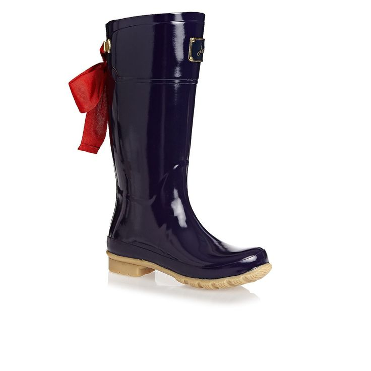 Joules Boots - Joules Women's Premium Bow Welly  - French Navy