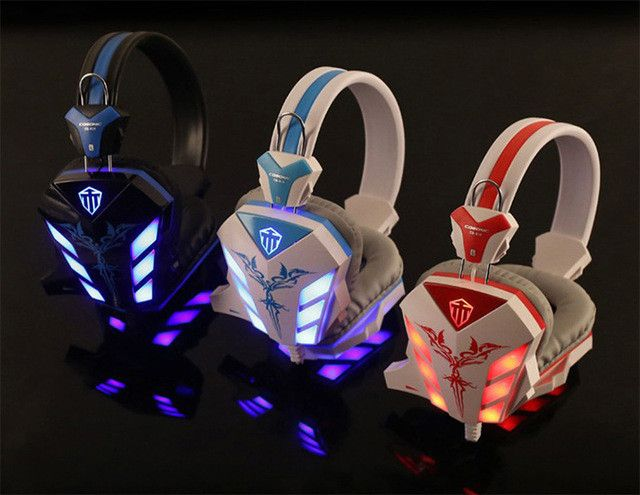 Audifonos Gamer de Diadema con Luz Led y Microfono. - Audifonos - CellsPoint - 1