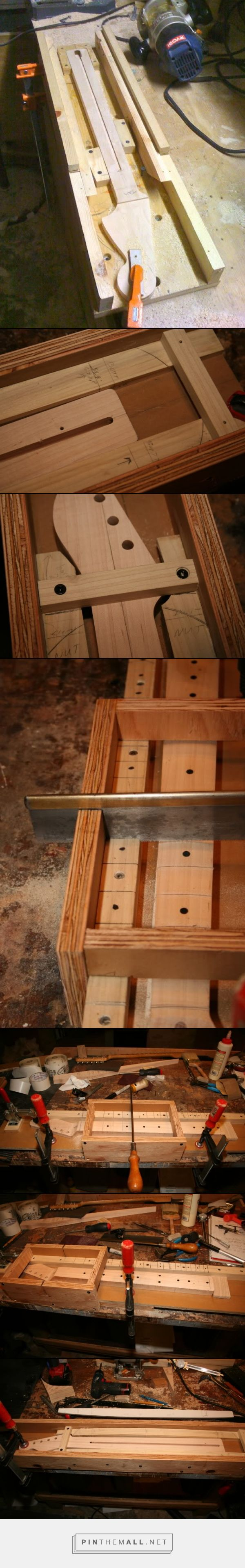 DIY tools & jigs - Telecaster Guitar Forum Neck finishing jig - created via https://pinthemall.net