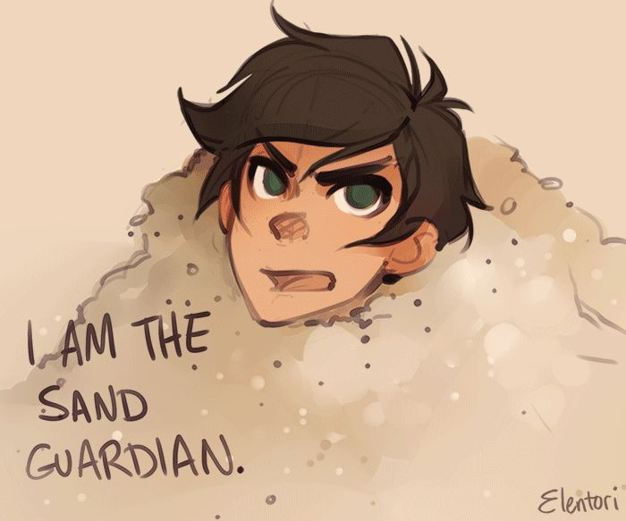 "Guardian of the sand.."" *leo runs up* ""Poseidon quivers before him!"" ""FUCK OFF"""