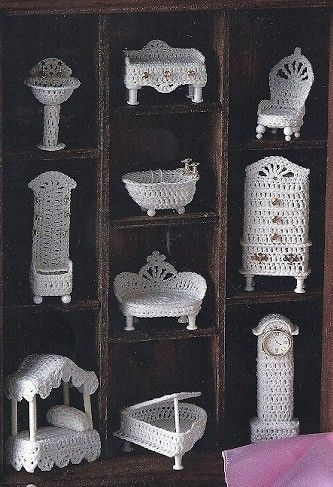 Crochet Miniature Victorian Doll House Furniture Ornament Patterns