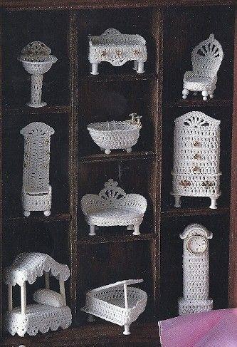 Miniatur viktorianische Puppe Haus Möbel Ornament Muster von colojd