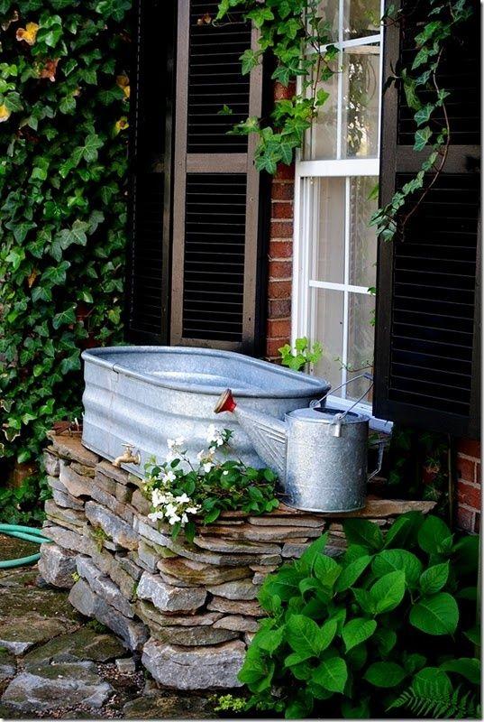 Outdoor sink - dog washing station!                                                                                                                                                                                 More