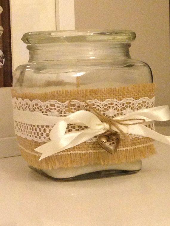 Shabby Chic Jar Candle on Etsy, £8.00