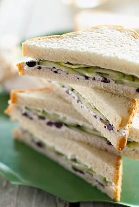 Dean Brothers (gotta be good if they cook like their momma) - cucumber, vidalia onion, and cream cheese sandwiches