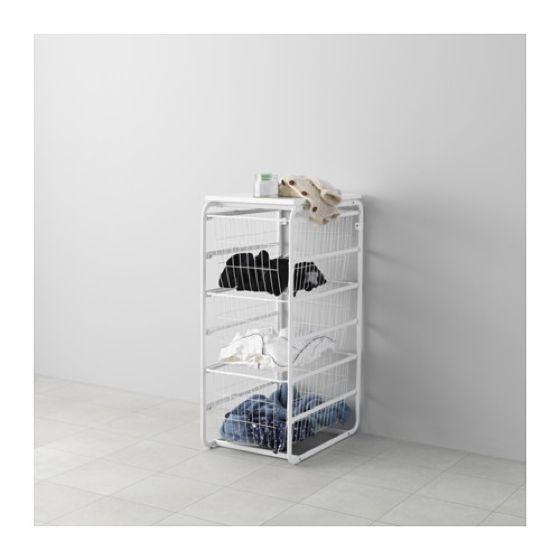 Frame/3 wire baskets/top shelf, ALGOT