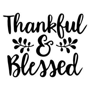 Silhouette Design Store - View Design #154513: thankful and blessed