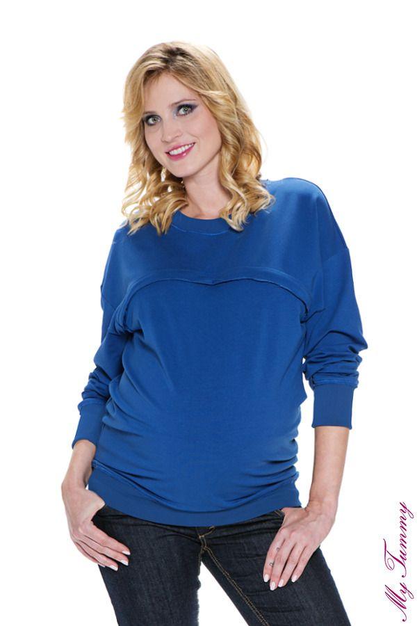 Bluza ciążowa Nicki niebieska