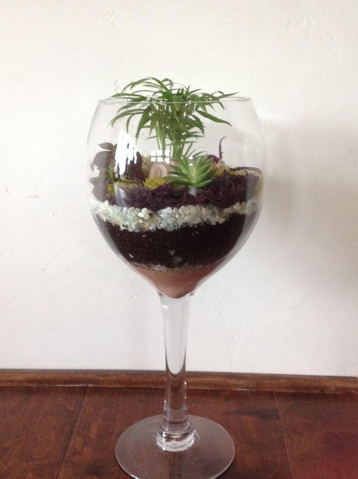 Wine Glass Terrarium