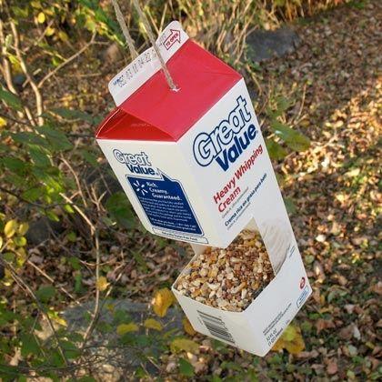 Milk Carton Bird Feeder Crafts For Kids