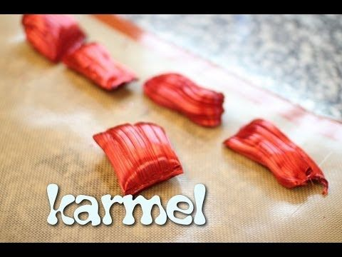 Karmel krok po kroku (do dekoracji, lizaków, róż itd) - Kotlet.TV - YouTube