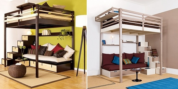 Cool Loft Bed Under Loft Bunk Beds With Couches