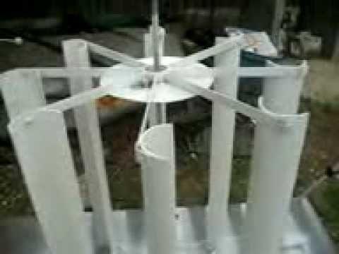 pvc vertical wind turbine- very cool!