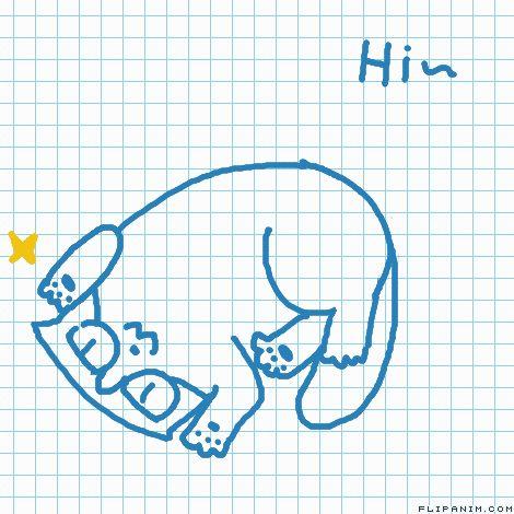 嗨 by 大手贝 #gif #anim #animation #flipanim #flipbook #drawing #draw