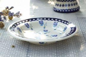 Ceramiczny talerz głęboki GU-1419 DEK. 890 Bolesławiec 24 cm