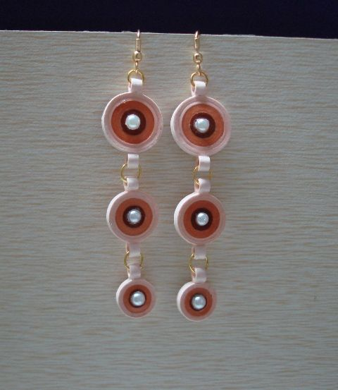 Two coloured Long hanging earrings