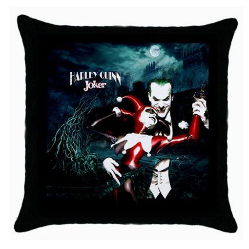 New HARLEY QUINN JOKER Custom Throw Pillow Case by Sahabatku, $13.99 It's all me ...