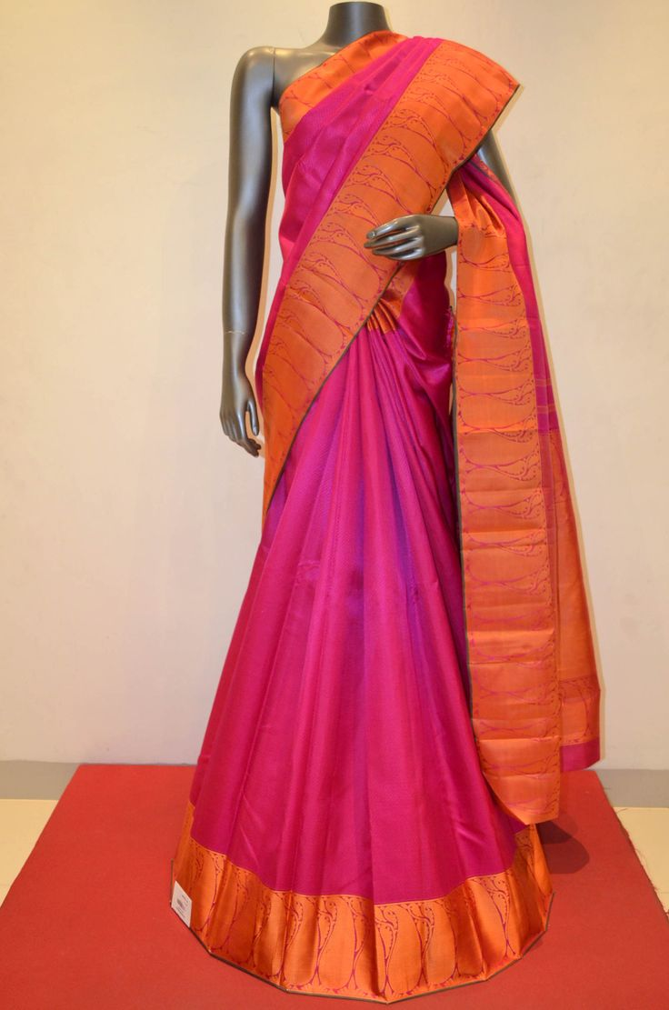 Thread Weaving Pink Kanjeevaram Silk Saree Product Code: AA207067 To Shop Online Click Here: http://www.janardhanasilk.com/index.php?route=product/product&product_id=2319&search=AA207067