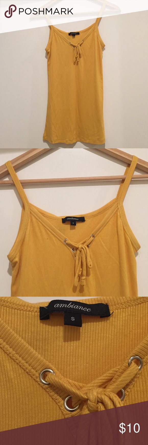 Ambiance Women's Yellow Tank Size Small Ambiance Women's Mustard Yellow Tank Top. Size Small, fits true to size. Brand new. Ambiance Apparel Tops Tank Tops