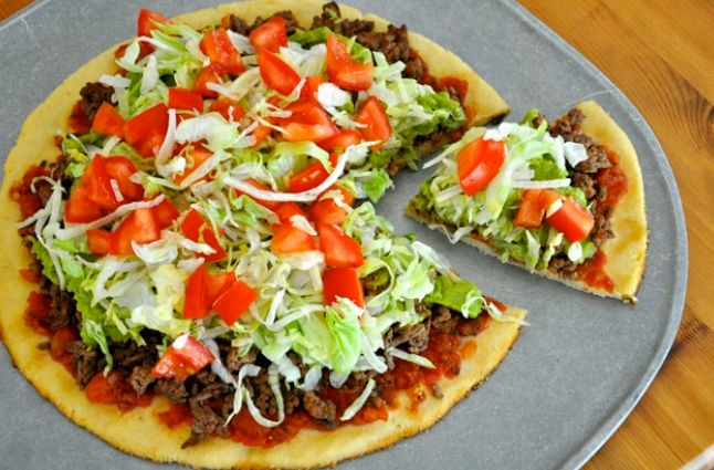 Gluten-FREE Taco Pizza: 1 T raw honey, 2 tsp active dry yeast, 1/4 cup ...