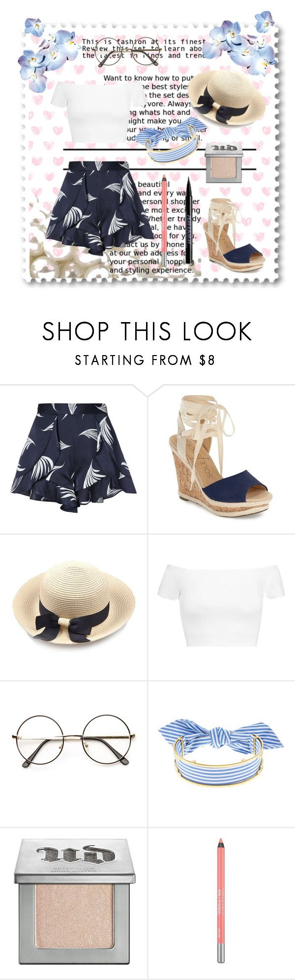 """""""Summer time"""" by spookie1 ❤ liked on Polyvore featuring C/MEO COLLECTIVE, Sole Society, Alice + Olivia, Monica Sordo and Urban Decay"""