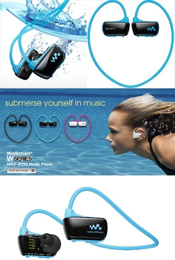 Sony Walkman Waterproof Sports MP3 Player with Swimming Earbuds