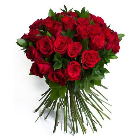 Regal Romance Hand Tied Bouquet of 3 dozen roses.
