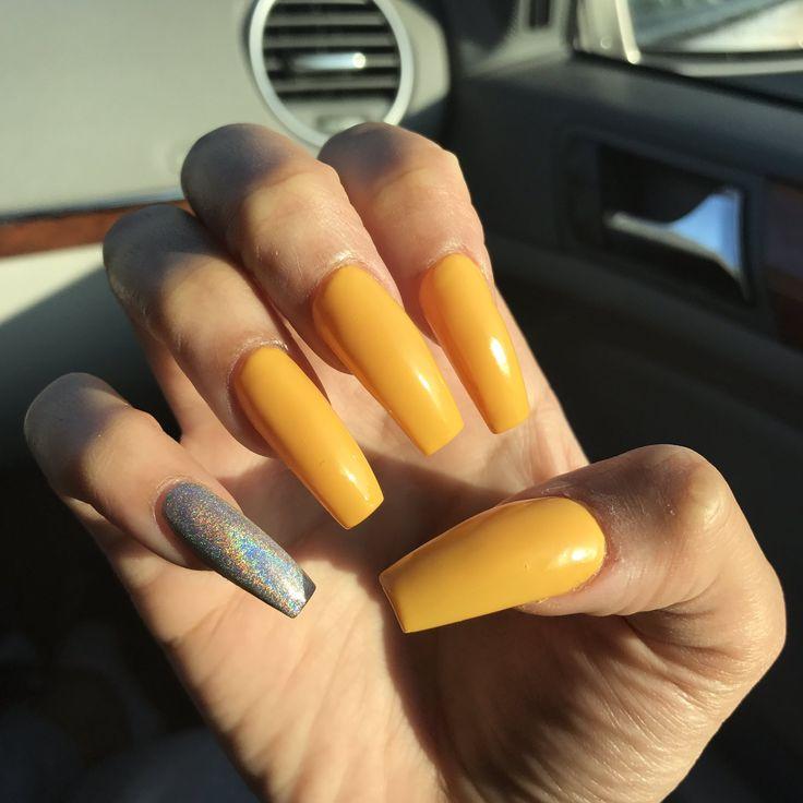 Best 25+ Yellow nails ideas on Pinterest   Acrylic nails ...