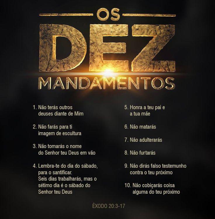 Os dez mandamentos de Deus