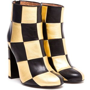 LAURENCE DACADE Flaubert Checked Leather Ankle Boots