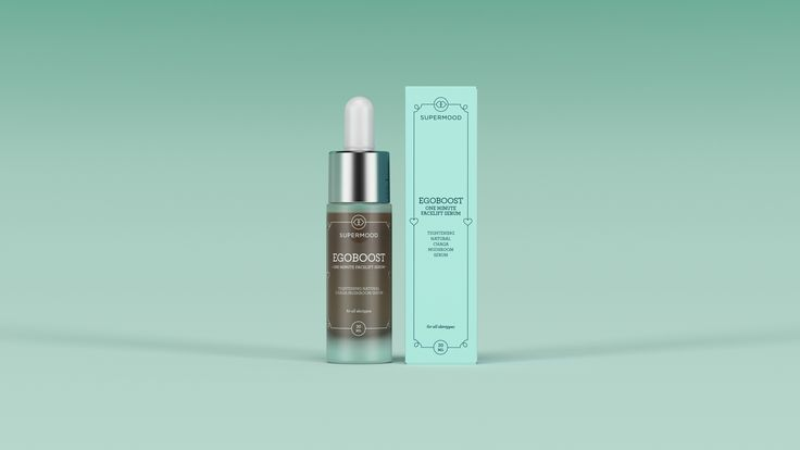 Supermood Egoboost - One Minute Facelift 30ml | Natural Chaga serum for an instant lift.
