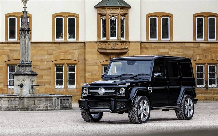 Mercedes-Benz G-Class, 2016, Hofele Design, W463, Black Mercedes, German cars