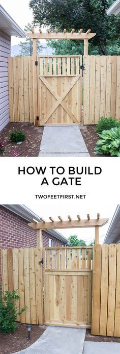 Build a wood gate. This is the plan we're going with for the gates in the 4ft fence section.