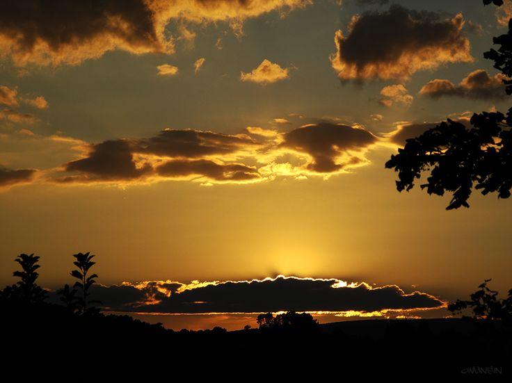 Couché de soleil - Sunset #Luberon #provence