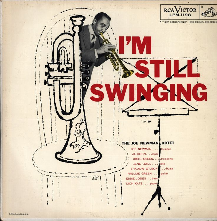 """The Joe Newman Octet - I'm Still Swinging, Released in 1956 on RCA Victor Records #LPM-1198 Cover done by """"Andy Warhol"""""""