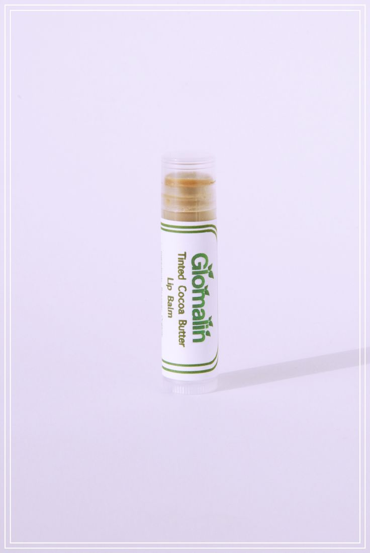 Glomalin Tinted Cocoa Butter Lip Balm made from certified organic ingredients; shop at www.glomalin.ca